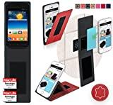 Gionee Pioneer P2S Hülle Cover Case in Rot Leder -