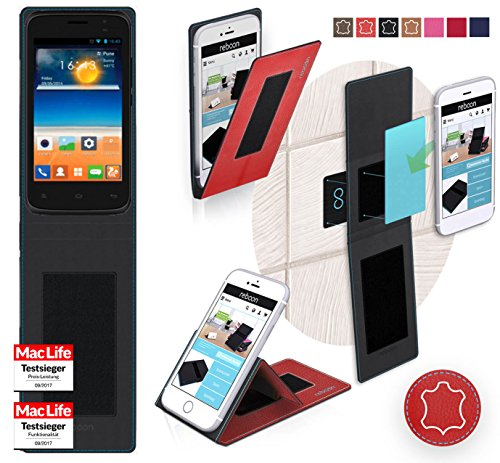 reboon Gionee Pioneer P2S Hülle Tasche Cover Case Bumper | Rot Leder | Testsieger