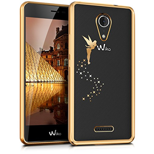 kwmobile Wiko Tommy 2 Hülle - Handyhülle für Wiko Tommy 2 - Handy Case in Gold Transparent