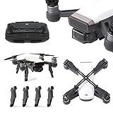 Rantow para DJI Spark Drone piezas accesorios protector conjunto, Protector de la tapa de la lente de la cámara Gimbal + Protector de la palanca de mando + Mecanismo de elevación del prolongador de la altura + Protector de las cuchillas Clip de la hélice