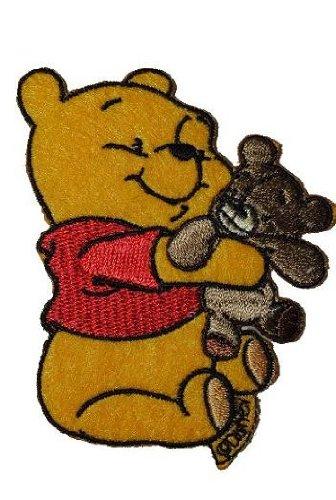 alles-meine.de GmbH Winnie The Pooh 6,5 cm * 8,2 cm Aufnäher Applikation Bügelbild Patch Bär Bear -