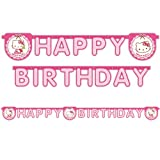 PARTY DISCOUNT NEU Girlande Hello Kitty, HAPPY BIRTHDAY
