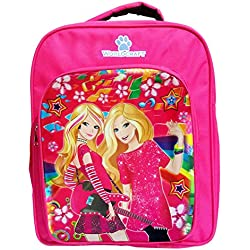 Worldcraft Princess 15 inch Pink Waterproof Children's Backpack (2girlguitar)
