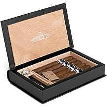 Dapper Effects Cave à cigares 5-10 avec hygromètre monté Avant de Luxe pour Hommes ou Femmes