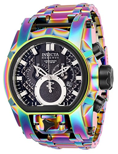 Invicta Men's Reserve 52mm Steel Bracelet & Case Swiss Quartz Watch 25212