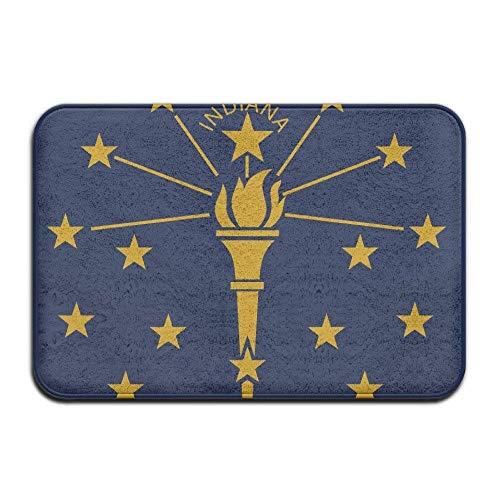 ferfgrg Home Doormat Indiana State Flag Door Mats Outdoor Mats Entrance Mat Floor Mat -