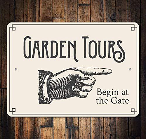 Garden Club Teller (JIA KOAH Garden Gardenours Poing Hand Blechschild Metall dekorative Wand Poster Souvenir)