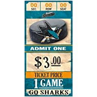 WinCraft San Jose Sharks NHL Ticket Schild