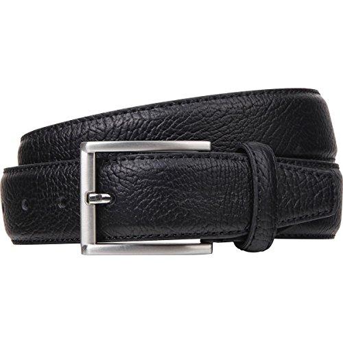 Ledergürtel Herren / Gürtel Herren Pierre Cardin, Rindleder mit Struktur-Prägung, schwarz, 8095, Größe / Size:90;Farbe / Color:schwarz - 2
