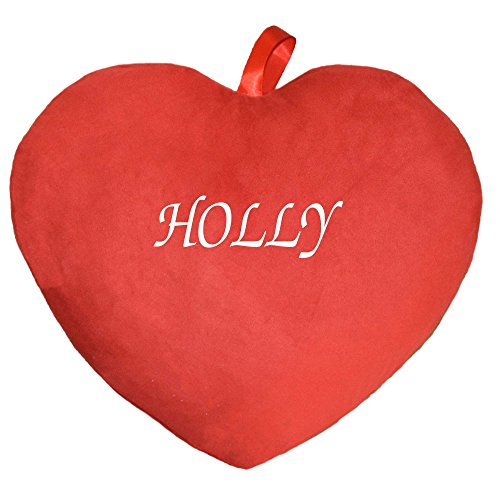 Herzkissen Kissen bedruckt mit Vornamen Holly rot (Tshirt Heißes Thema)