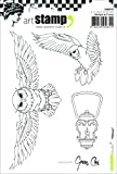 Carabelle Studio SA60197 A6 Cling Stempel - Owls, Rubber, White Transparent, 10 x 14 x 0.5 cm