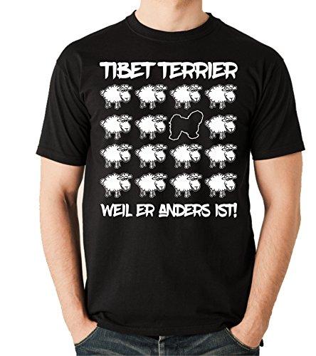 Siviwonder Unisex T-Shirt BLACK SHEEP - TIBET TERRIER - Hunde Fun Schaf Schwarz