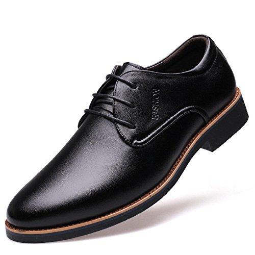 Uomo appuntito Scarpe di pelle Scarpe casual Scarpe da lavoro Scarpe da ginnastica traspirante Antiscivolo euro DIMENSIONE 38-44 black
