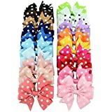 Bluelans 20 X Baby Girls Dots Bow Headbands Flower Hairbands Assorted Colors