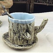 monicaxin Taza de cerámica con forma de Grazioso gato blancos y negros para café y leche taza regalo perfecto para Navidad y cumpleaños Taza de cerámica, giallo-yellow
