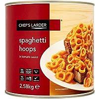 Reifen Larder Spaghetti In Tomatensauce 2.58Kg Packung Küchenchef Von 6