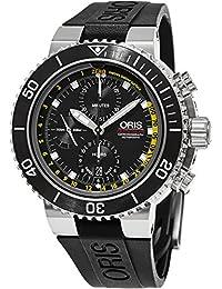 837c2d874ca0 Oris Aquis de los hombres de  Swiss automático acero inoxidable y goma reloj  de vestido