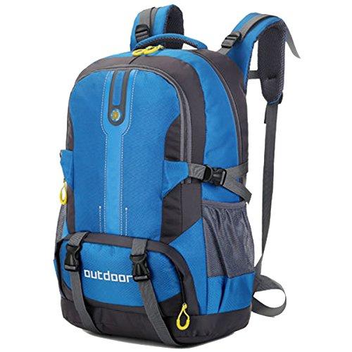Impermeabile All'aperto Alta capacità Sport arrampicata Escursionismo Viaggio Le spalle Campeggio Zaino (Blu) Giallo