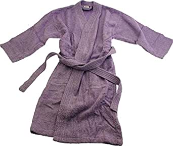 Lilac Towelling Personalised Childrens Bathrobe (8/9 Years)