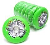 8 HYPER Wheel Track Grabber X-Fast grün 104 mm 91A INLINER Rollen K2 Fila Rollerblade