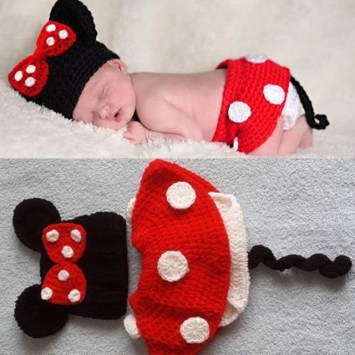 Imagen de matissa ltd  disfraz de ganchillo, ideal para sesión de fotos minnie talla recién nacido alternativa