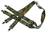 Hosenträger | Jagd-Motiv | Damen und Herren | One Size 120 cm | Anzug-Hosenträger | Arbeitskleidung-Hosenträger | Teichmann