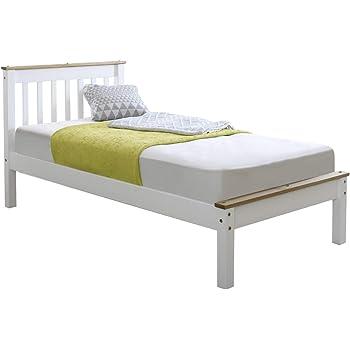 Amani Grasmere Single White Bed Frame - No Drawers: Amazon.co.uk ...