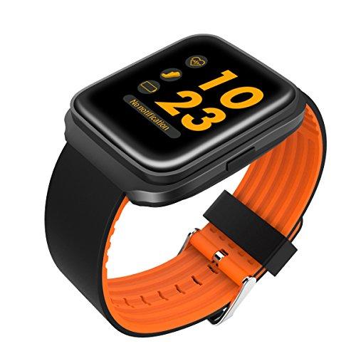 XHZNDZ Bluetooth Smart Watch mit Kamera Touchscreen Smartwatch entsperrt Handy Uhr Smart Armbanduhr Sport Fitness Tracker für Android Handys IOS iPhone 7 7s Plus 6s (Farbe : Orange)
