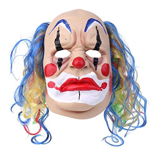 Baoblaze Clown Maske Clownsmaske Latexmaske Halloween Killer Karneval Kostüme Erwachsene - Japanische Geisha