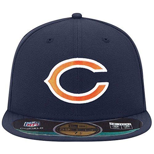 chicago-bears-nfl-navy-orange-on-field-gsh-new-era-59fifty-einbaukuche-baseball-kappe-grosse-7