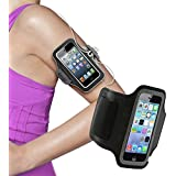 "Choomantar Shop Premium Quality Compatible With Sports Armband Compatible Running Jogging Gym Case Cover Holder For All Smart Phones Till 5.5"" Inch Apple IPhone 4 4S 5 5S SE 5C 6 6S 7 Plus Samsung Galaxy Note 3 4 5 6 S5 S6 S7 Edge Redmi Samsung Micro"