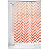 InterDesign Ombre Chevron PVC-Free 4.8 Gauge PEVA Shower Curtain, Coral Multi, 183 x 183 cm