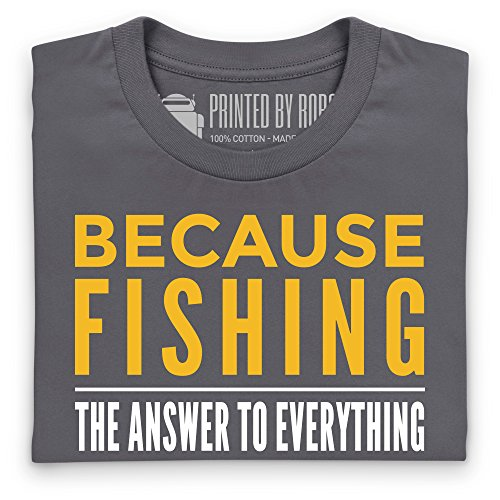 Because Fishing T-Shirt, Herren Anthrazit