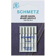 SCHMETZ Agujas para máquina de coser de tela vaquera 130/705 H-J, NM 100