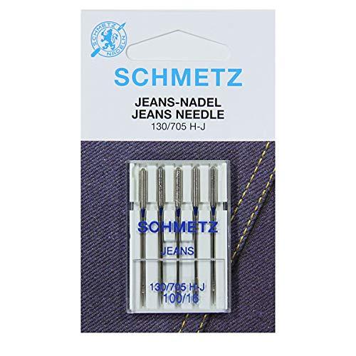SCHMETZ Agujas máquina coser tela vaquera 130/705