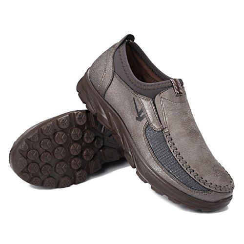 Gracosy Mocasines para Hombre Zapatos de Cuero Casual de los Hombres Zapatos Planos Mocasines Zapatos...