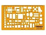Muebles Símbolo dibujo y diseño plantilla de la plantilla símbolos arquitectónicos Escala de dibujo técnico 1: 100 Template