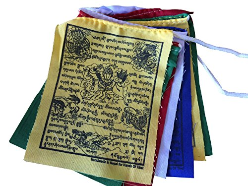 51Sh4cFa%2BgL UK BEST BUY #1Hands Of Tibet Small Wind Horse Tibetan Prayer Flags Set Of 10 price Reviews uk