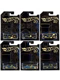 #10: New 1:64 Hot Wheels 50th Anniversary Black & Gold Collection - Bone Shaker, Twin Mill, Rodger Dodger, Dodge Dart, Impala & Ford Ranchero Set of 6pcs Diecast Model Car By HotWheels