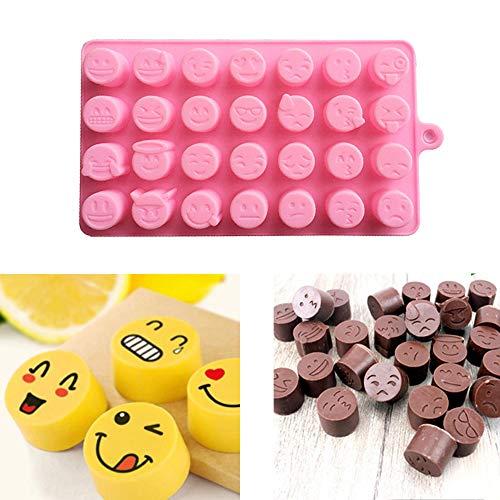 (TianranRT Lustig Gesicht DIY Silikon Für Kuchen Schokolade Zucker Süßigkeiten Seife Backen Schimmel)