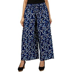 Jaipur Classic Printed Cotton Pants Palazzo for Women Girls Free Size