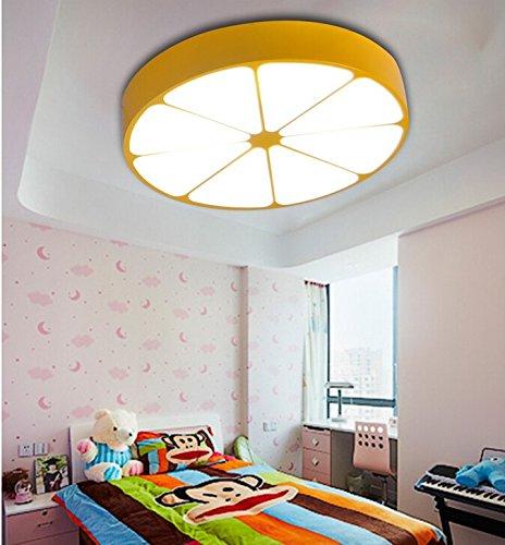 Kreative Persönlichkeit Farbe Orange Zitrone Kinderzimmer Jungen und Mädchen Baby-Raum-Cartoon-Kronleuchter Schlafzimmer ( farbe : Gelb , größe : Diameter78cm ) - 2