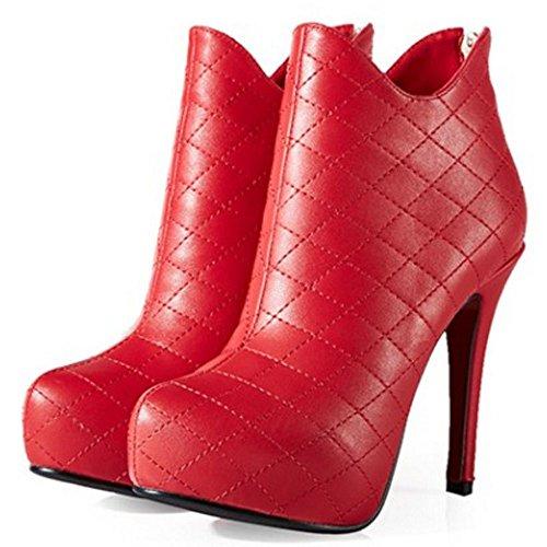 Ankle Mulheres Boots Planalto Os Vermelhos Das Saltos Com evento Fashion Coolcept XWBqcnXrp