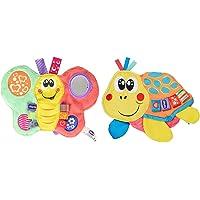 Chicco Daisy Farfalla Colorata, & Gioco Molly Tartaruga, Animaletto In Tessuto Con Squeaker, 3-24 Mesi
