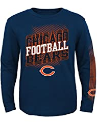 """Chicago Bears Youth Jeunes NFL """"Frequency"""" Long Sleeve T-Shirt Chemise"""
