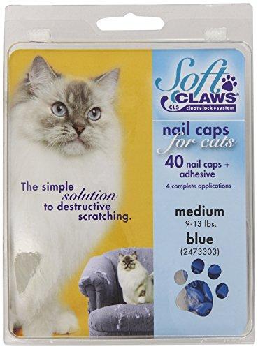 SOFTCLAWS® Krallenschutzes für Katzen - Medium - Blau