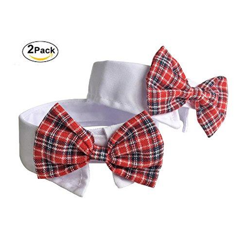 2 Pack Hund Katze Haustier Halsbänder Fliege Krawatte Krawatte-Kailian