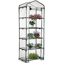 Jardinería Invernaderos Miniinvernadero portátil transparente de efecto invernadero PVC Cubiertas de Invernadero Pequeño para Casa para Tomates Planta Casa Semillero (5 niveles)