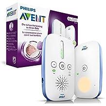 Philips Avent SCD501/00 DECT Babyphone, weiß/blau