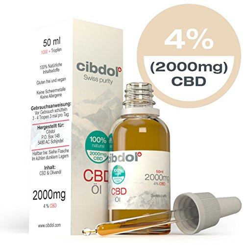Preisvergleich Produktbild Cibdol ® XXL - 50 ml Öl mit 2000 mg hochwirksamen CBD - Vollständiges Terpenspektrum aus Schweizer Laboren - das Beste vom Besten